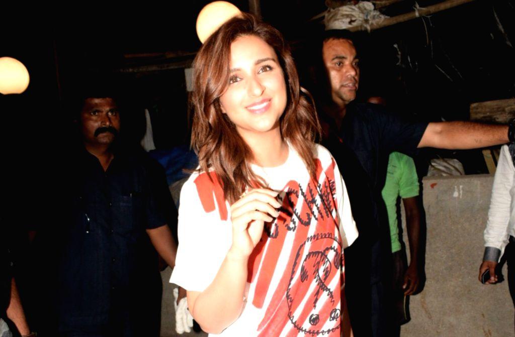 Mumbai: Actress Parineeti Chopra seen at Mumbai's Bandra on April 28, 2019. (Photo: IANS) - Parineeti Chopra