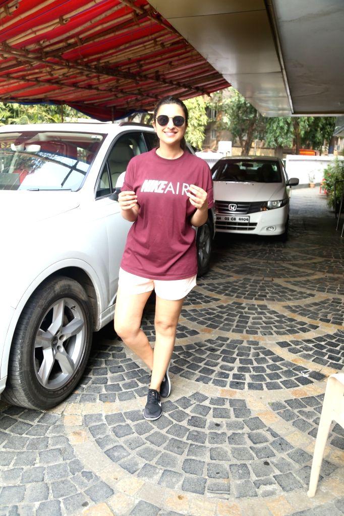 Mumbai: Actress Parineeti Chopra spotted at khar gymkhana in Mumbai on Oct 14, 2019. (Photo: IANS) - Parineeti Chopra