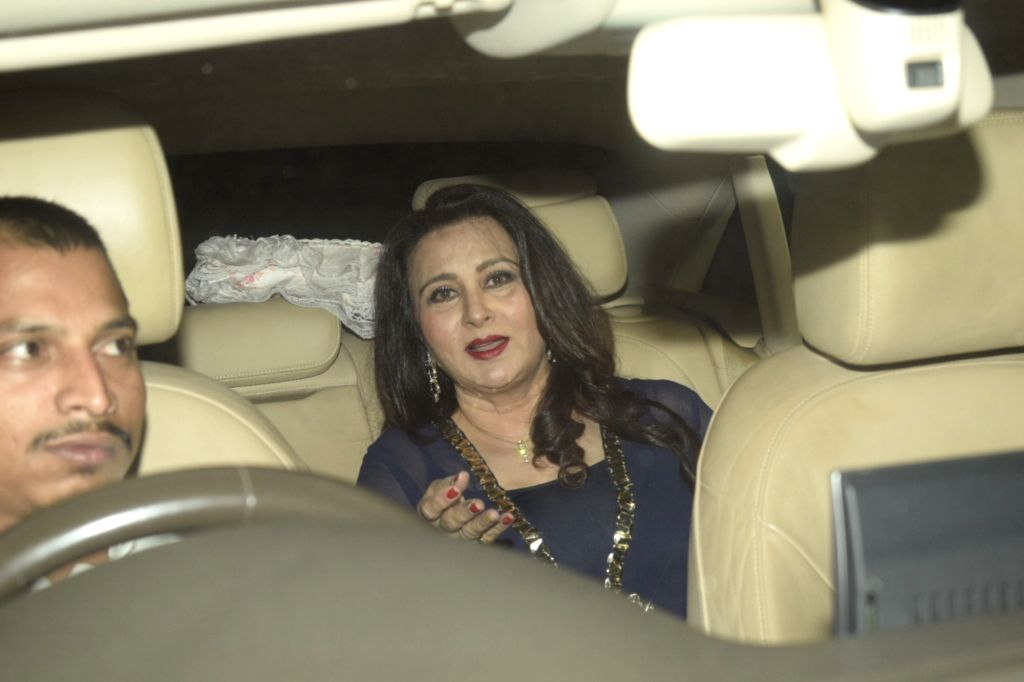 Mumbai: Actress Poonam Dhillon arrive to attend birthday celebrations of actor Sanjay Khan in Mumbai on Jan 3, 2019. (Photo: IANS) - Poonam Dhillon and Sanjay Khan