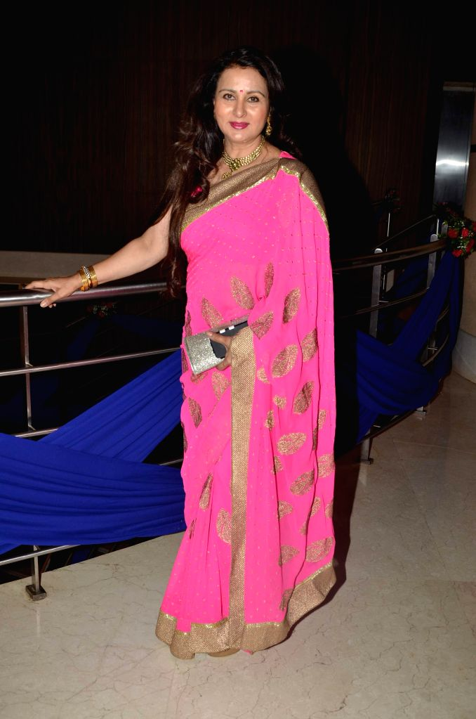 Actress Poonam Dhillon during Karan Patel and Ankita Bhargava`s engagement and sangeet ceremony at the Novotel Hotel in Juhu, Mumbai on 1st May, 2015. - Poonam Dhillon