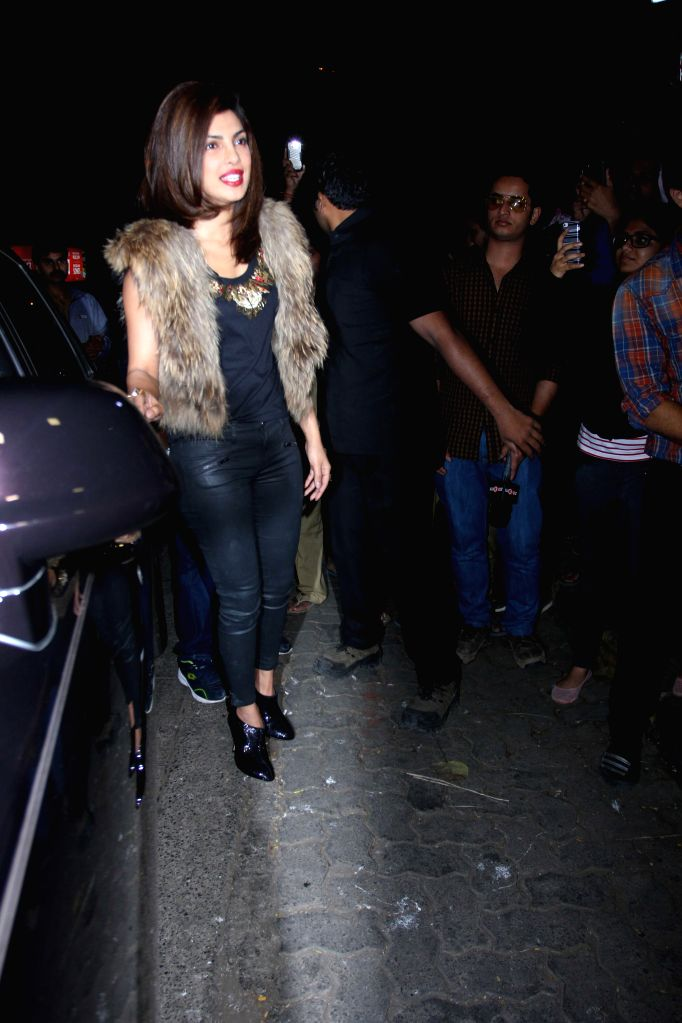 Actress Priyanka Chopra during the Sanjay Leela Bhansali celebrates Padma Shri honour party in Mumbai 28th January 2015. - Priyanka Chopra