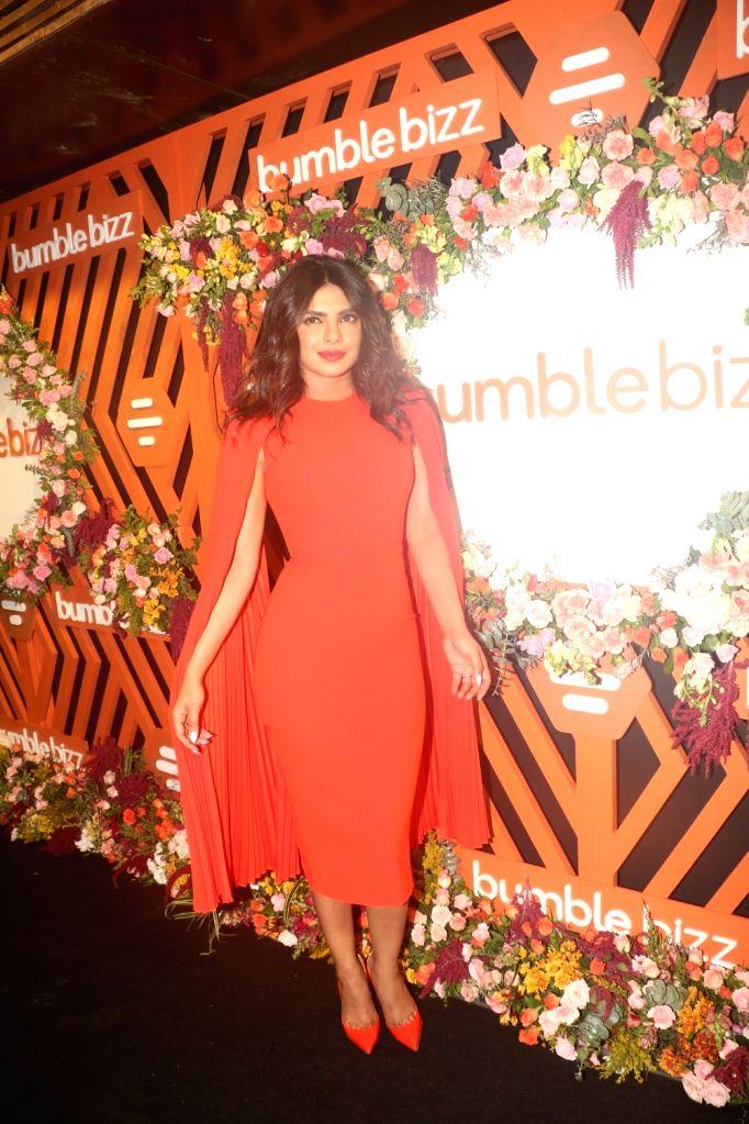 Mumbai: Actress Priyanka Chopra Jonas at the launch of Bumble's #FindThemOnBumble campaign in Mumbai, on June 13, 2019. (Photo: IANS) - Priyanka Chopra Jonas