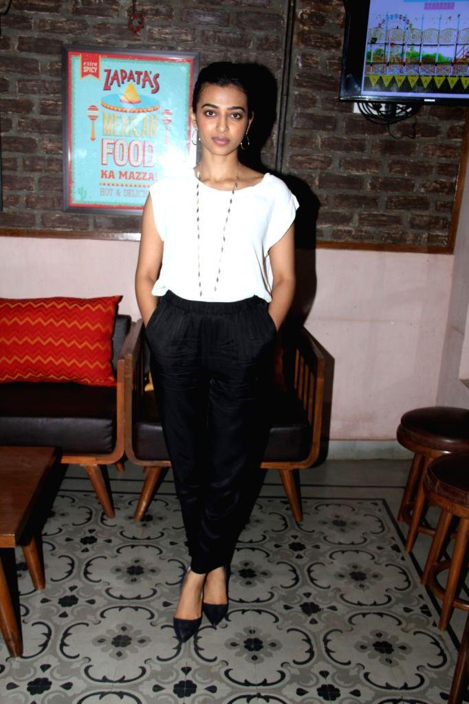Actress Radhika Apte during Bombariya Film Announcement launch party in Mumbai on April 21, 2015. - Radhika Apte