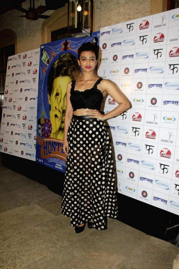 Actress Radhika Apte during the success party of film Hunterrr in Mumbai on March 27, 2015. - Radhika Apte