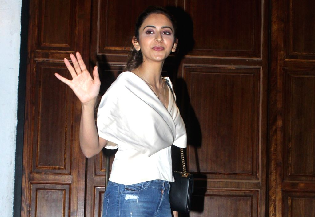 Mumbai: Actress Rakul Preet Singh seen in Mumbai's Bandra, on April 2, 2019. (Photo: IANS) - Rakul Preet Singh