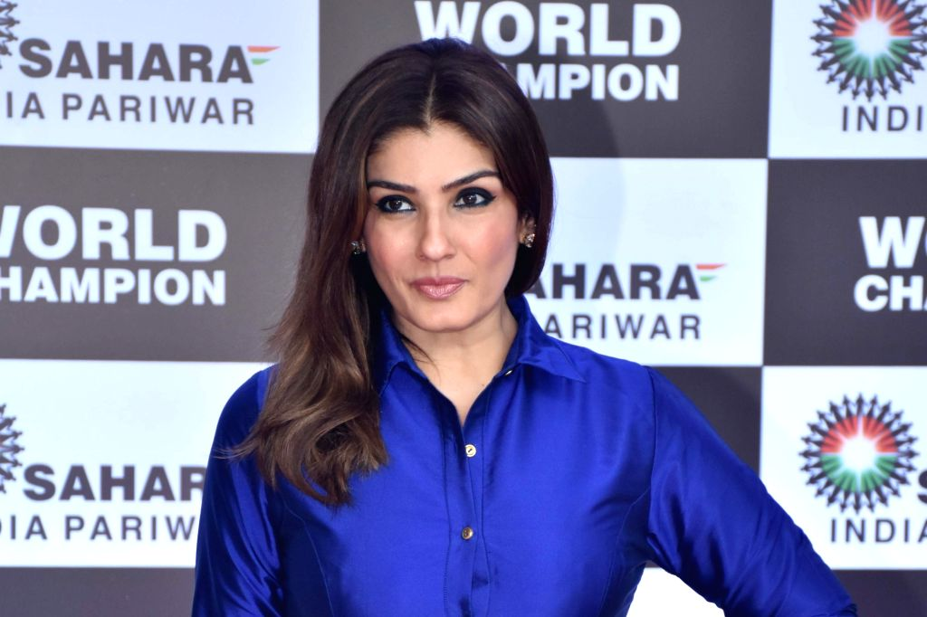 Mumbai: Actress Raveena Tandon during a felicitation ceremony organised for Badminton star P.V. Sindhu by the Sahara Group, in Mumbai on Sep 8, 2019. (Photo: IANS) - Raveena Tandon