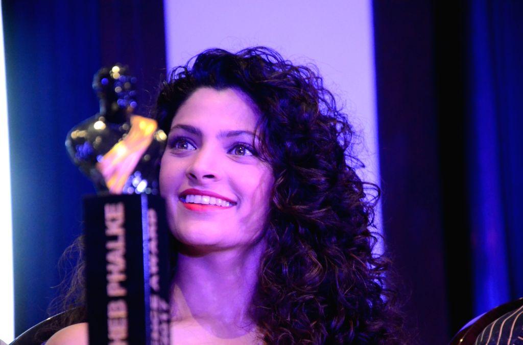 Mumbai: Actress Saiyami Kher during a press conference organised to unveil the trophy of Dadasaheb Phalke Excellence Award 2017 in Mumbai, on April 20, 2017. (Photo: IANS) - Saiyami Kher