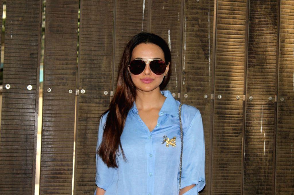 Mumbai: Actress Sana Khan at a studio for the dubbing of film Toilet Ek Prem Katha in Mumbai on May 16, 2017. (Photo: IANS) - Sana Khan