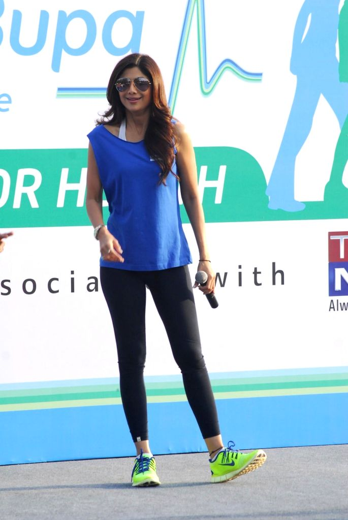 Actress Shilpa Shetty during a programme organised to launch a walkathon in Mumbai, on Nov 9, 2014.