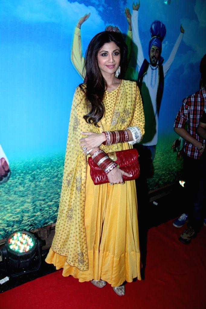 Actress Shilpa Shetty during the Baisakhi celebration in Mumbai on April 14, 2015. - Shilpa Shetty
