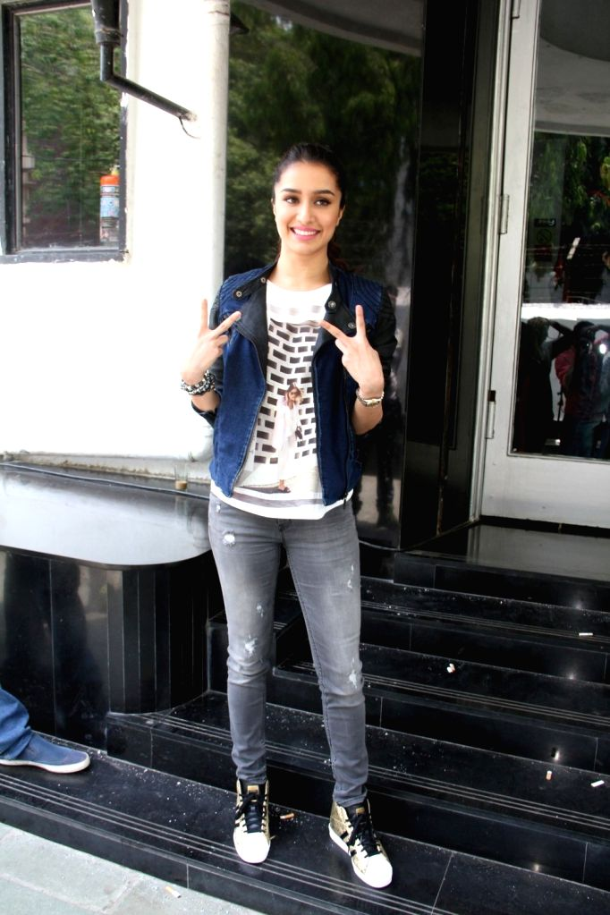 Actress Shraddha Kapoor on Sets Of DID Super Moms For Promotion Of ABCD  in Mumbai on April 21, 2015.