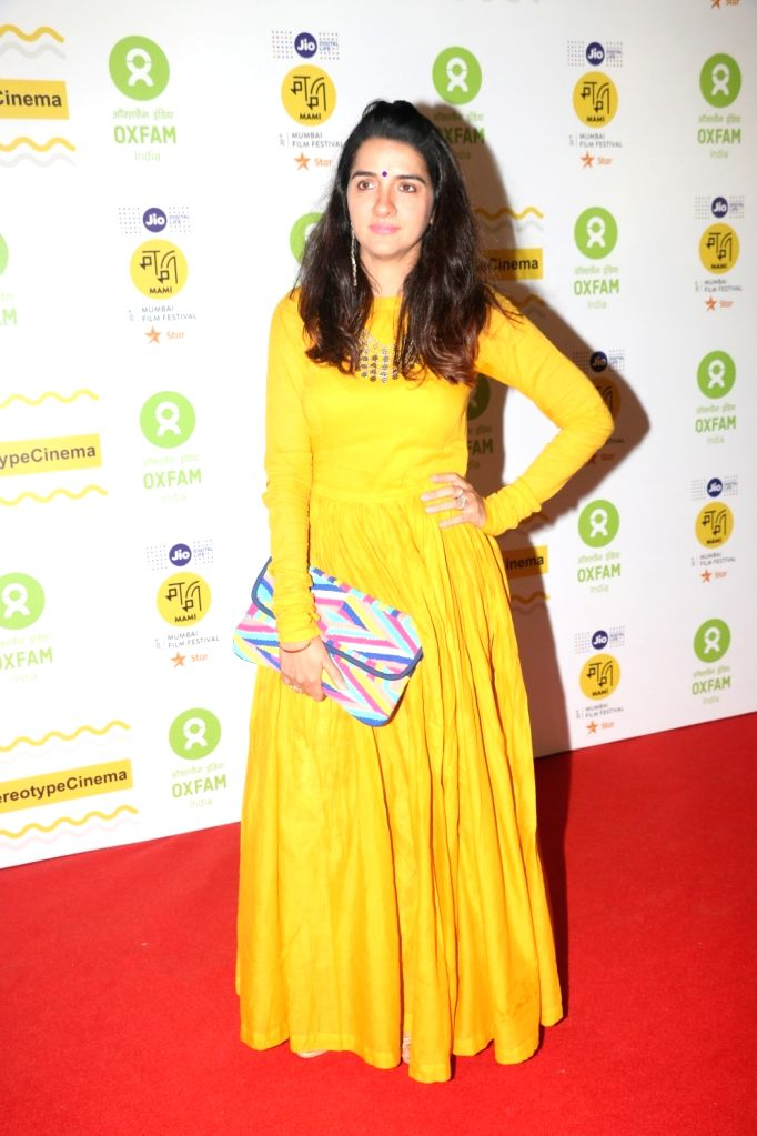 : Mumbai: Actress Shruti Seth at the red carpet of Oxfam Mami ' Women In Film ' Brunch in Mumbai on Oct 28, 2018. (Photo: IANS).