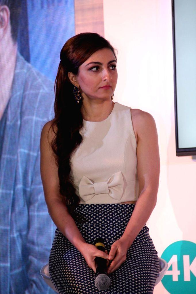 Actress Soha Ali Khan during the launch of latest Philips TV, in Mumbai on 7 April 2015. - Soha Ali Khan