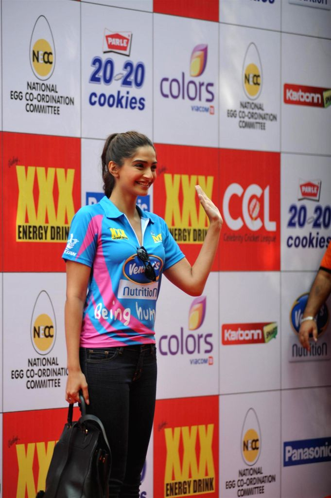 Actress Sonam Kapoor during the Celebrity Cricket League (CCL) in Mumbai on Jan 10, 2015. - Sonam Kapoor