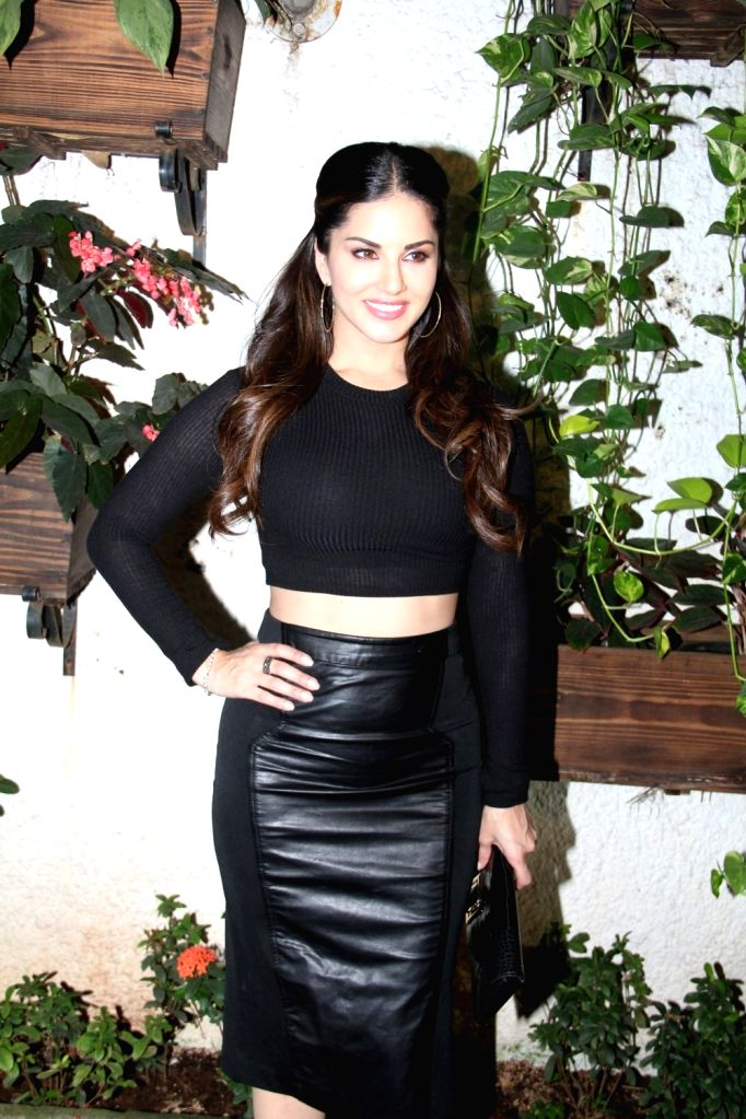Actress Sunny Leone during the special screening of film Ek Paheli Leela in Mumbai on April 9, 2015. - Sunny Leone