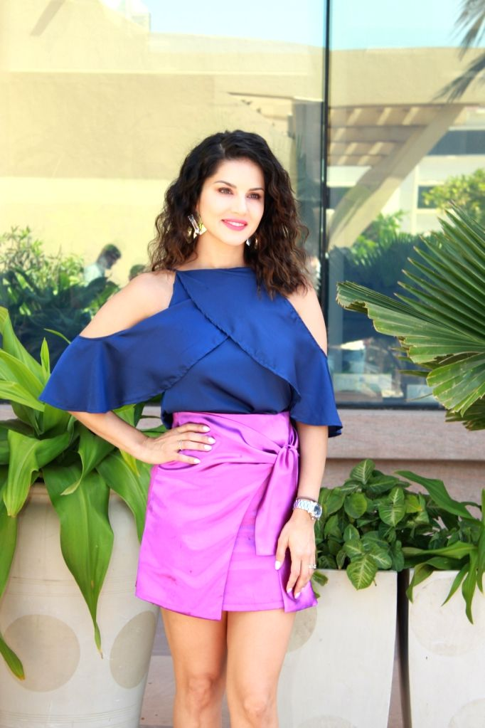 Mumbai: Actress Sunny Leone seen at a Juhu hotel in Mumbai, on April 1, 2019. (Photo: IANS) - Sunny Leone