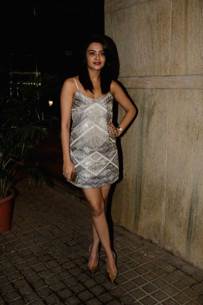 Actress Surveen Chawla during Ahmed Khan and Shahira Khan's wedding anniversary party in Mumbai on 7th, Feb. 2015. - Surveen Chawla