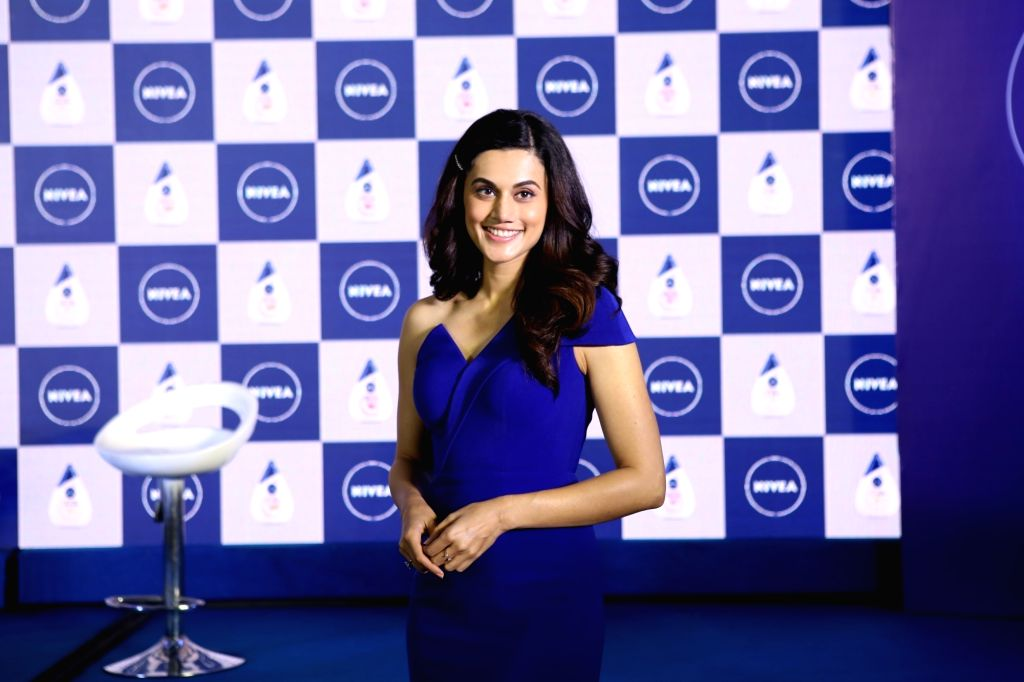 Mumbai: Actress Taapsee Pannu during the launch of a cosmetic product in Mumbai on March 5, 2019. (Photo: IANS) - Taapsee Pannu