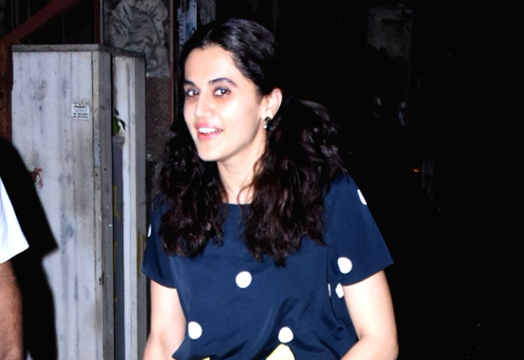 Mumbai: Actress Taapsee Pannu seen in Mumbai on Oct 31, 2019. (Photo: IANS) - Taapsee Pannu