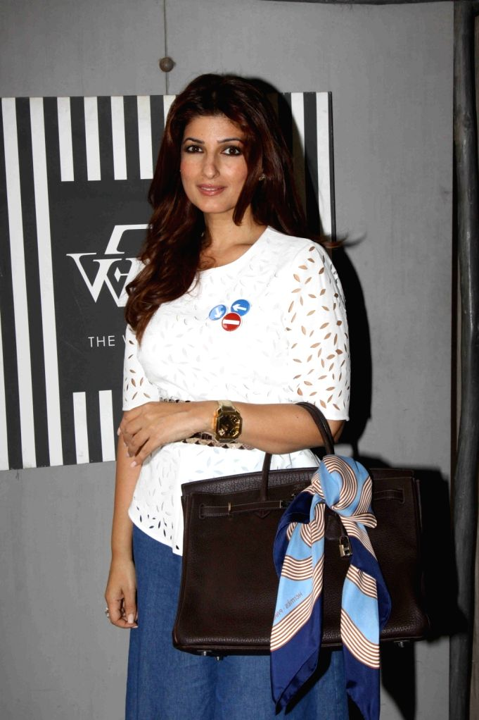 : Mumbai: Actress Twinkle Khanna during the launch of the festive pop-up at The White Window, a home decor store in Mumbai on Nov 3, 2015. (Photo: IANS). - Akshay Kumar