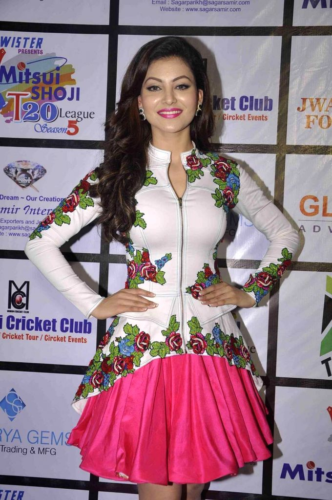 Actress Urvashi Rautela during the Mitsui Shoji T20 Cricket League 2015 organised by Sagar Samir International and Shaurya Jems in Mumbai, on April 27, 2015. - Urvashi Rautela