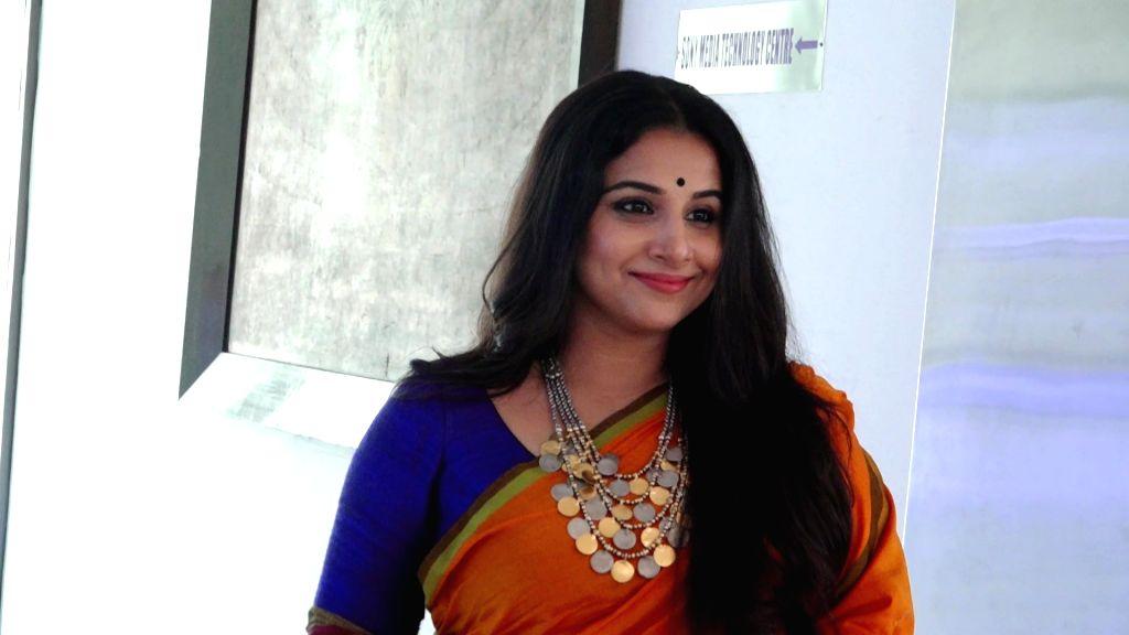 Mumbai: Actress Vidya Balan during a programme in Mumbai on Feb 2, 2018. (Photo: IANS) - Vidya Balan