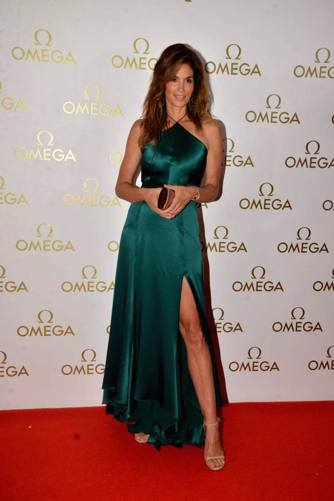 American model Cindy Crawford during the party organised for the launch a product in Mumbai, on June 18, 2015.