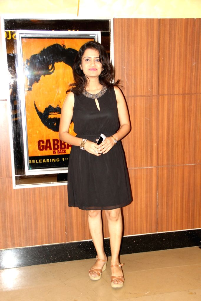 Amruta Subhash during the premiere of Marathi film Coffee ANi Barach Kahi in Mumbai on Thursday, April 2, 2015.