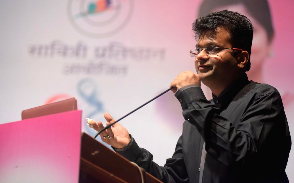 Aneel Murarka during the Cancer awareness event on the occasion of International Women`s Day by Savitri Pratishthan in Mumbai, on March 8, 2015.