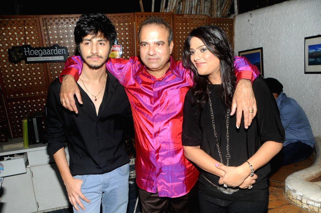 Arjuna Harjai with Suresh Wadkar & Surabhi Dashputra during the song launch of film Titto MBA in Mumbai, on Nov. 4, 2014.
