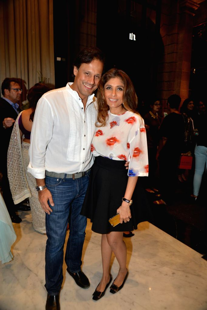 Arun Nayar and Roohi Jaikishan during the inauguration of Nirav Modi Jewellry shop in Mumbai on March 14, 2015.