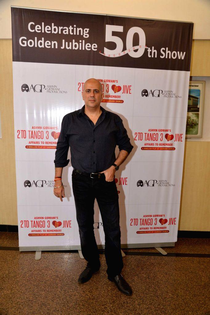 Ashvin Gidwani during Ashvin Gidwani`s play Two to Tango Three to Jive, in Mumbai on April 4, 2015.
