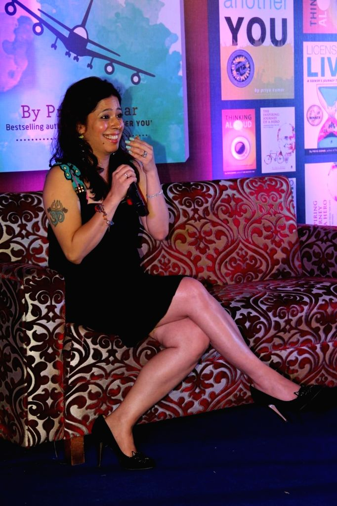 Author Priya Kumar during the launch of author Priya Kumar's book I Will Go With You - The Flight of a Lifetime in Mumbai on 18th Feb, 2015.
