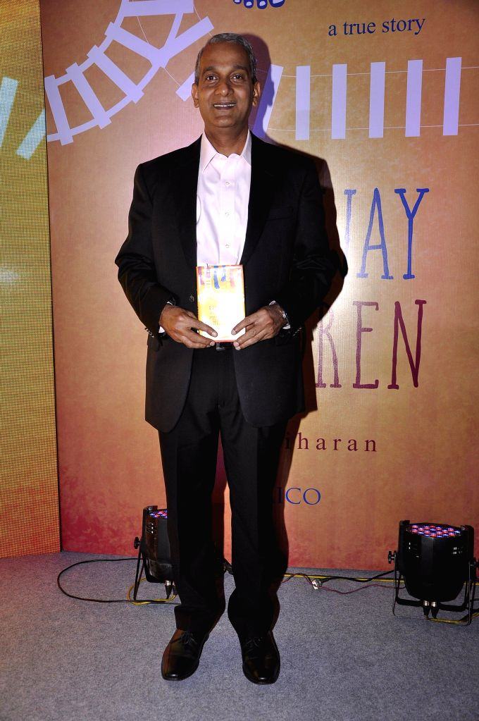 Author S Hariharan during the launch of book Run Away Children by author S Hariharan in Mumbai on Jan 16, 2015.