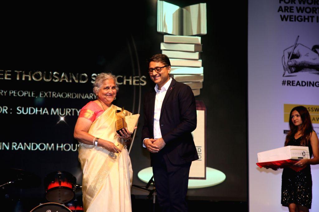 Mumbai: Author Sudha Murthy at the Crossword Book Awards in Mumbai on Dec 20, 2018. (Photo: IANS)