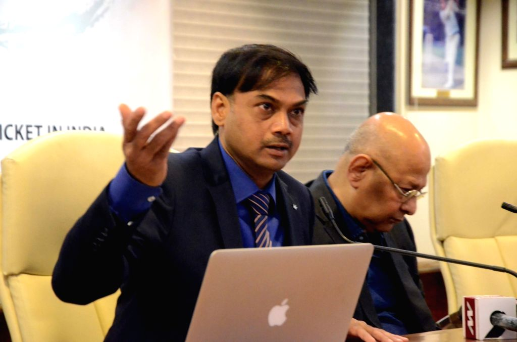 Mumbai: BCCI Selection Committee Chairman MSK Prasad and BCCI Acting Secretary Amitabh Choudhary during a press conference to announce the Indian squad for Asia Cup 2018, at BCCI Head Office in Mumbai on Sept 1, 2018. (Photo: IANS) - Secretary Amitabh Choudhary
