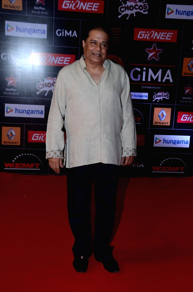 Bhajan singer Anup Jalota during the 5th edition of the Global Indian Music Academy (GiMA) Awards ceremony in Mumbai on Feb 24, 2015.