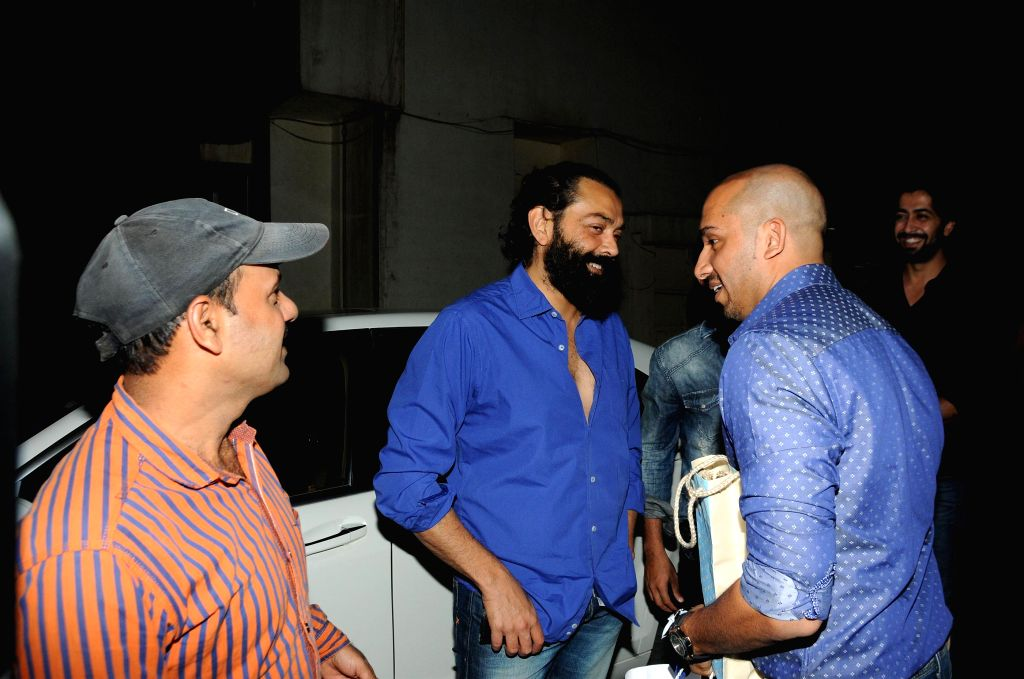 Bobby Deol during Ali Quli Mirza's birthday bash in Mumbai on April 1, 2015. (Photo: IANS).