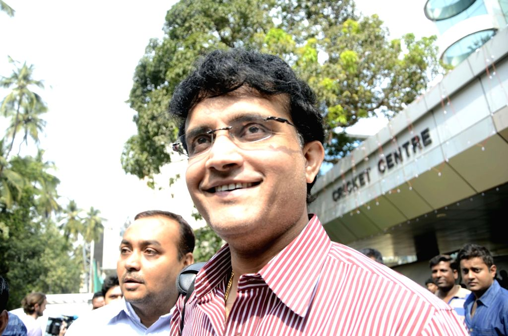 :Mumbai: CAB president Sourav Ganguly arrives to attend the Board of Cricket Control of India`s Annual General Meeting at BCCI head Quarter in Mumbai on Nov. 9, 2015. . - Sourav Ganguly