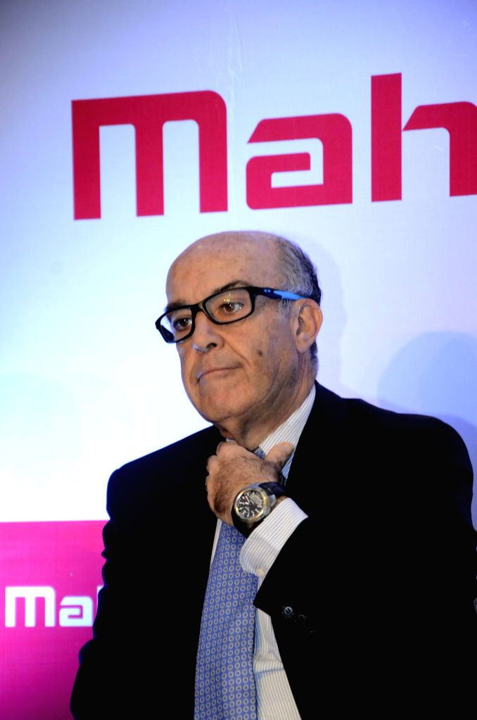 CEO of MotoGP right-holder Dorma Sports, Camelo Ezpeleta during a special event on the announcement of Mahindra Racing`s tie up with Aspar Team at Mahindra Headquarter in Mumbai on Feb. 2, ...