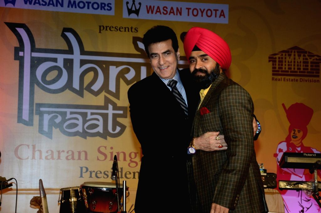 Charan Singh Sapraji with Jitendra during the  Charan Singh Sapra's 'Lohri Di Raat' in Mumbai on Jan 10, 2015. - Charan Singh Sapraji