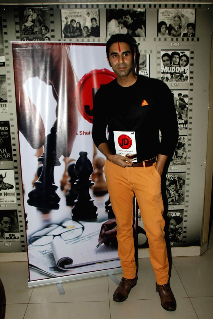 choreographer and actor Sandip Soparrkar during the muhurat and song recording of film JD in Mumbai, on 5th Jan 2015 - Sandip Soparrkar