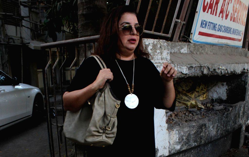 Mumbai: Choreographer-filmmaker Farah Khan seen in Mumbai's Juhu, on May 14, 2019. (Photo: IANS) - Farah Khan