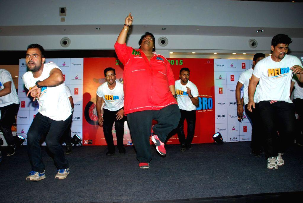 Choreographer Ganesh Acharya during the promotion of his film Hey Bro in Mumbai, on Feb 14, 2015.