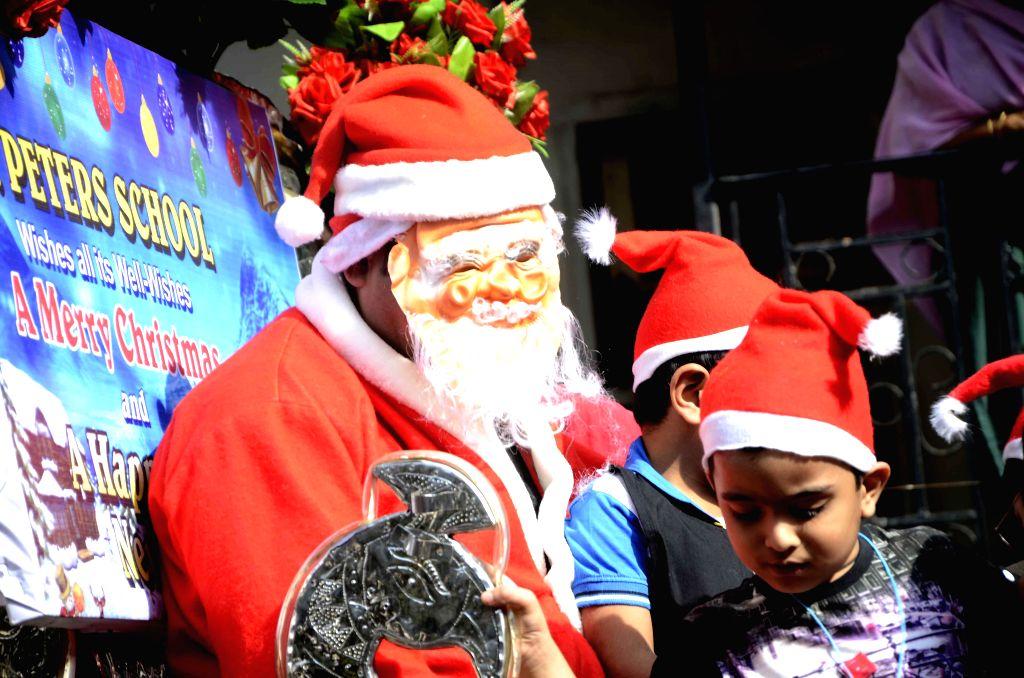 Christmas celebrations underway at a Mumbai school on Dec 19, 2014.