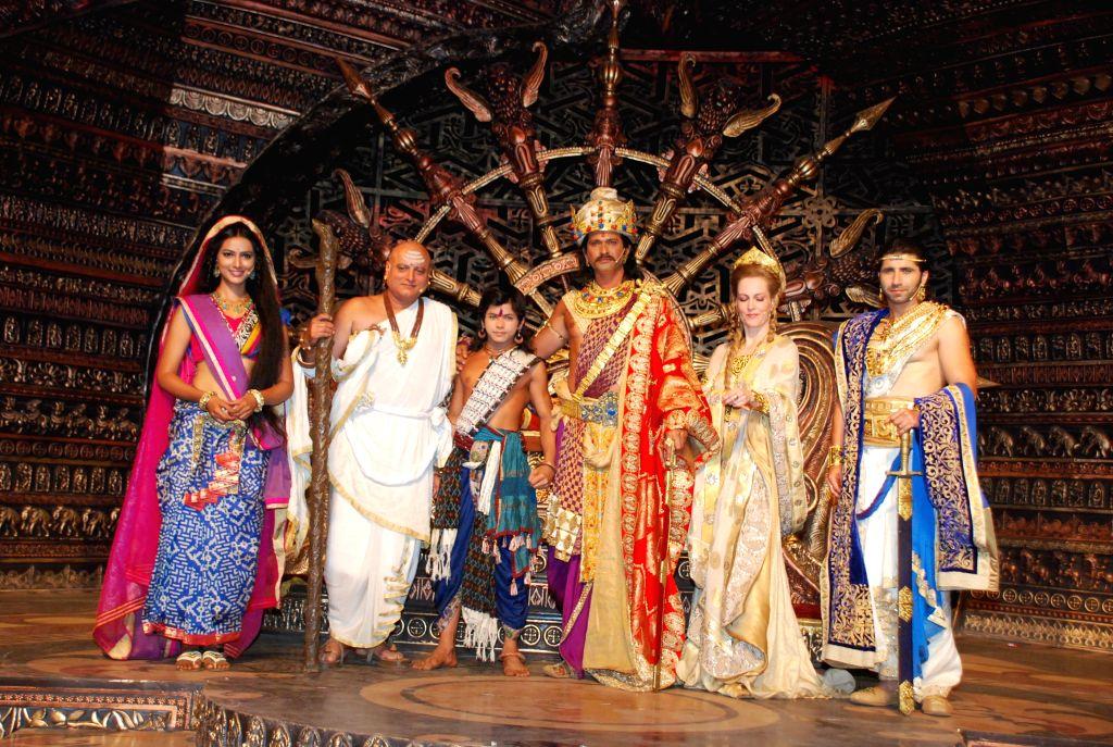 Colours launch of new television serial Chakravartin Ashoka Samrat at Karjat , ND Studios in Mumbai on 28th January 2015.