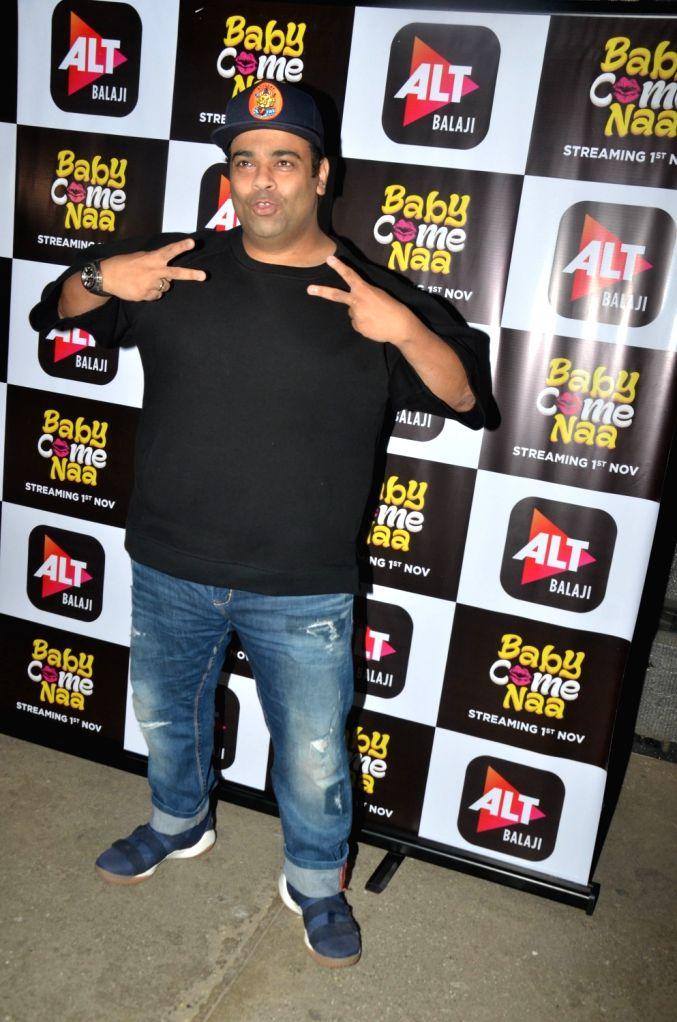 """Mumbai: Comedian Kiku Sharda at the screening of ALT Balaji's """"Baby Come Naa"""" web series in Mumbai on Oct 30, 2018."""