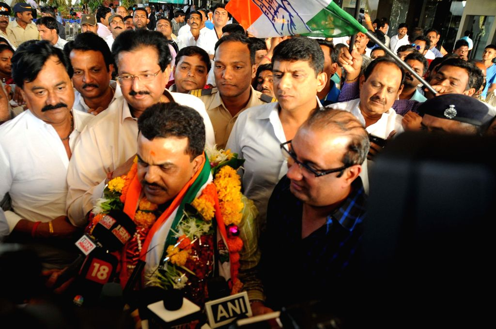 Congress leader Sanjay Nirupam after being appointed as the Mumbai Congress chief in Mumbai, on March 2, 2015.