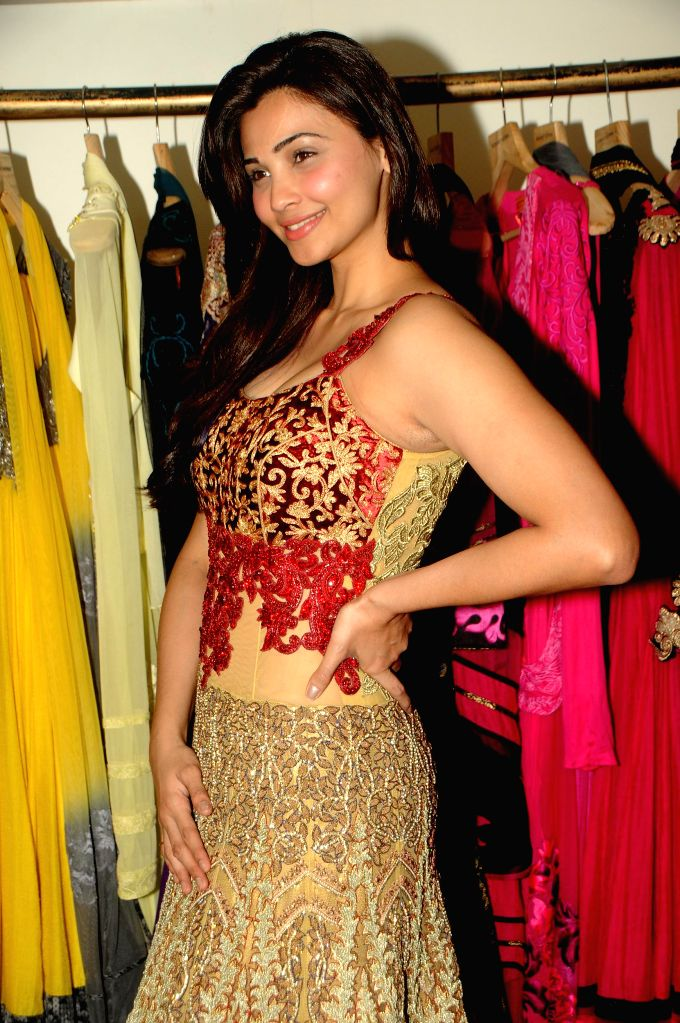 Daisy Shah poses during fittings check with Designer Rohit Verma for the '21st Lions Gold Award 2015' in Mumbai on 5th Jan 2015 - Rohit Verma