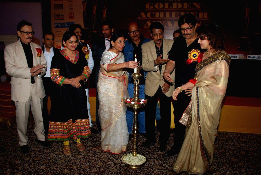 Deepti Naval and Hrishitaa Bhatt during Golden Achiever Awards in Mumbai on Jan 9, 2015.